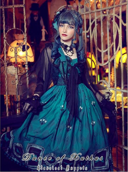 Obsidian Butterfly Dance Series Emerald Rose Gothic Lolita Hair Clip