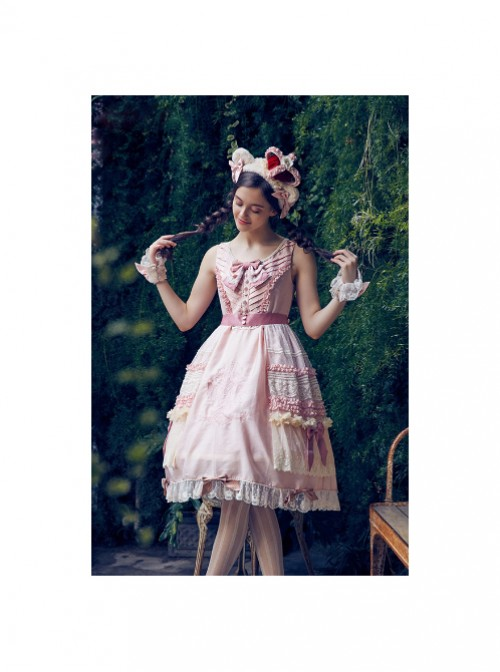 Classic Puppets Bear Series Pink Bowknot Classic Lolita Hand Sleeves