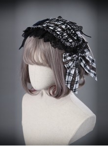 The Turn Into A Wolf's Little Red Hat Series Gray Navy Blue Lolita Head Band