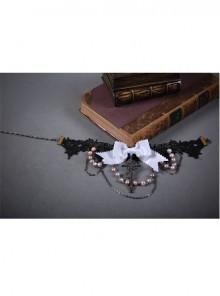 Swan Bone Series White Swan Lace Gothic Lolita Choker