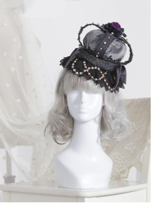 The Bride Doll Series Pearl Crow Cyan Gothic Lolita Crown Veil