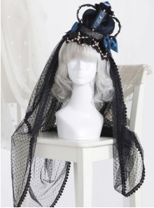 The Bride Doll Series Pearl Indigo Gothic Lolita Crown Veil