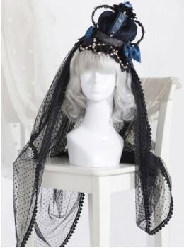 The Bride Doll Series Pearl Indigo Gothic Lolita Crown Veil