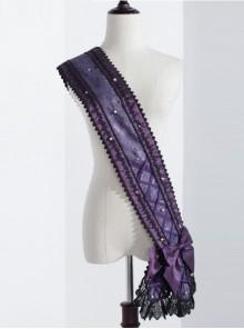 The Bride Doll Series Purple Bowknot Pearl Lolita Ribbon