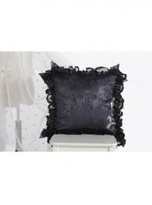 The Bride Doll Series Lace Bowknot Crow Cyan Lolita Cushion Cover