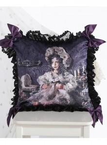 The Bride Doll Series Lace Bowknot Purple Lolita Cushion Cover