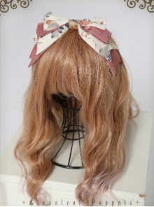 Garden Series Big Bowknot Beige Lolita Head Band