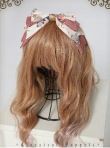 Garden Series Big Bowknot Beige Lolita Head Band