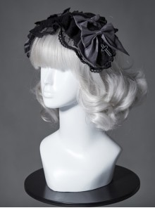 The Broken Doll Series Special Design Bowknot Crow Cyan Lolita Head Band