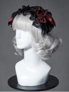The Broken Doll Series Special Design Bowknot Black Tea Lolita Head Band