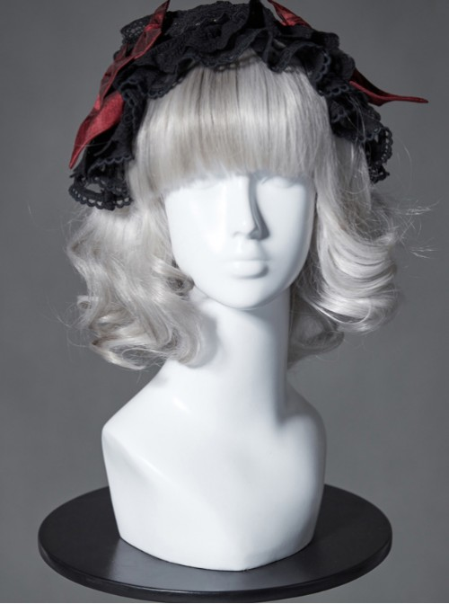 The Broken Doll Series Special Design Bowknot Black Tea Lolita Head Band