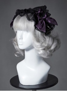 The Broken Doll Series Special Design Bowknot Dark Purple Lolita Head Band