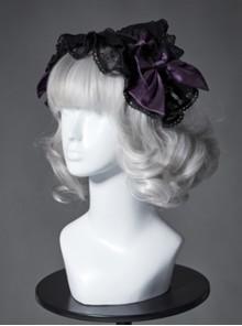 The Broken Doll Series Special Design Bowknot Dark Purple Lolita Head Band