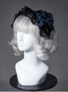The Broken Doll Series Special Design Bowknot Indigo Lolita Head Band
