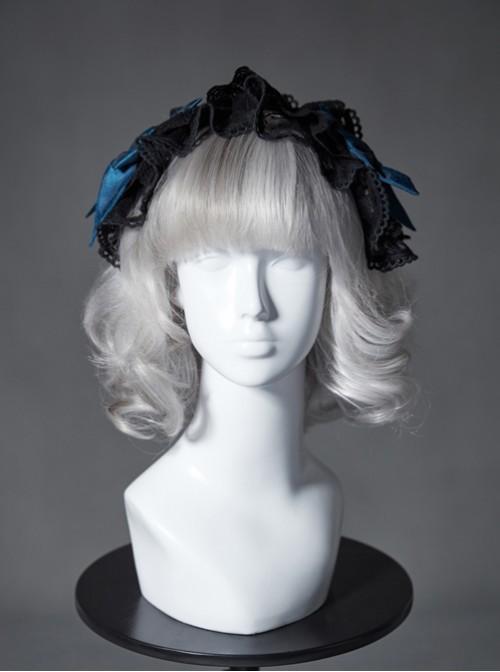 The Broken Doll Series Special Design Bowknot Indigo Lolita Head Band