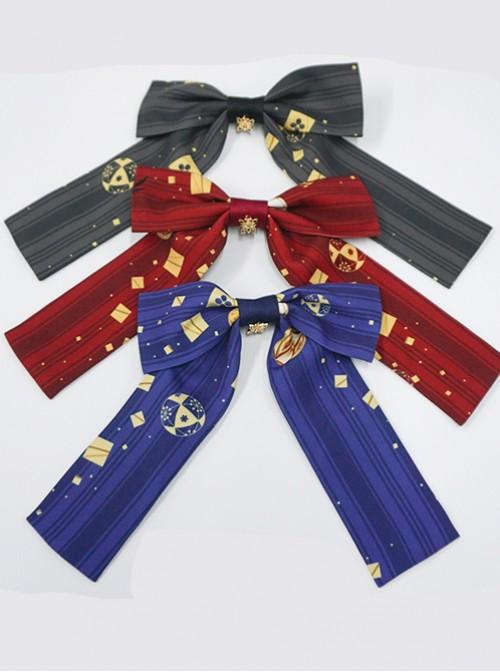 Kaguya Rabbit Series Long Tail Bowknot Three Colors Lolita Clips