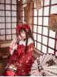 Kaguya Rabbit Series Gorgeous Design Bowknot Wine Red Lolita Head Band