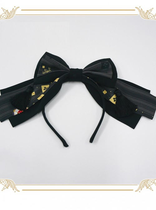 Kaguya Rabbit Series Black Bowknot Gorgeous Design Lolita Head Band