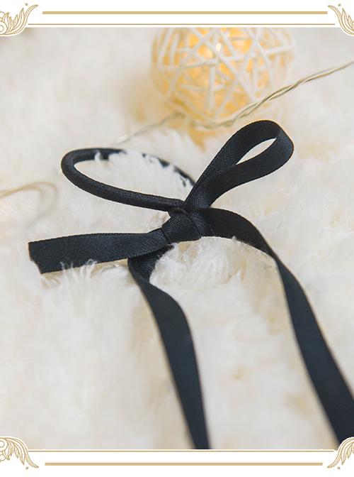 Kaguya Rabbit Series Ribbon Pure Colour Long Bowknot Hair Ring
