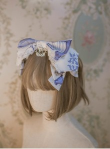 North Cross Stars Series Printing Bowknot Classic Lolita Headband