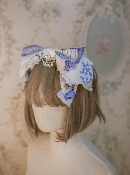 North Cross Stars Series Printing Bowknot Classic Lolita Headband