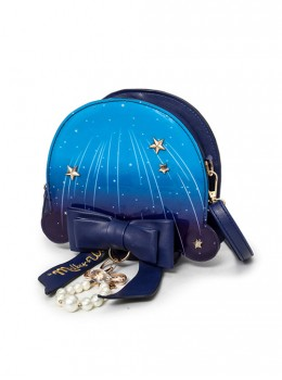 Meteor Jellyfish Bowknot Pearl Blue Lolita Shoulder Bag