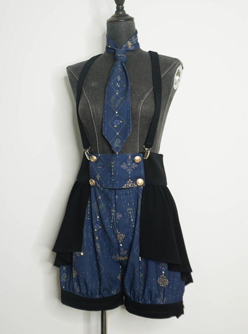 To My Love Lenore Series Black Elastic Gothic Lolita Braces Clips