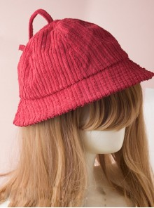 Pure Color Stripe Sweet Lolita Cute Fisherman Hat