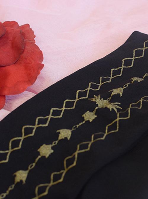 Bronzing Printing Velvet Classic Lolita Pantyhose