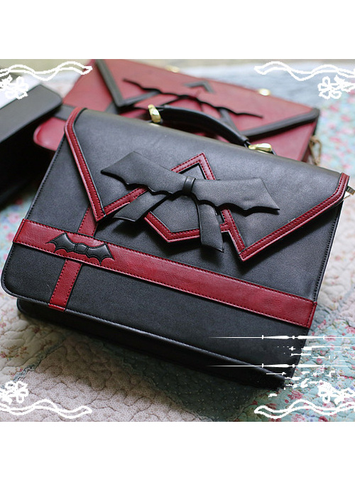 Halloween Bowknot Embroidery Lolita Backpack