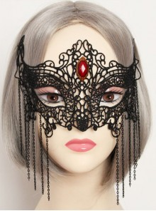 Black Lace Gothic Lolita Mask