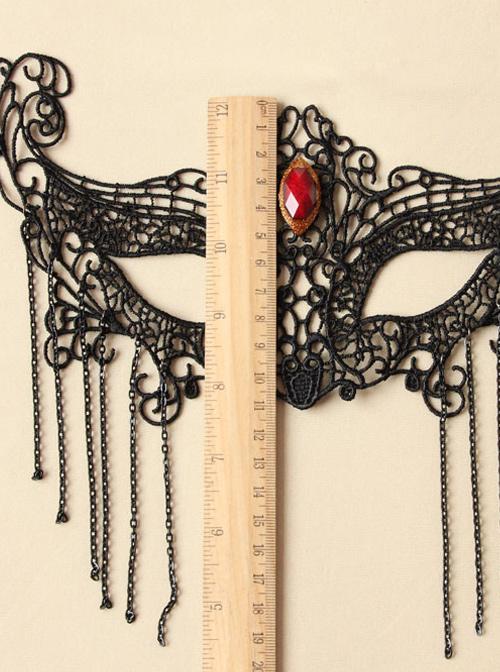 Black Lace Gothic Lolita Mask