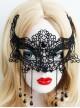 Black Lace Halloween Gothic Lolita Mask