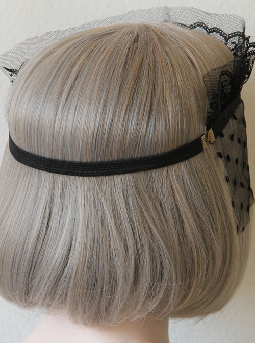 Rabbits Crown Black Lace Gothic Veil