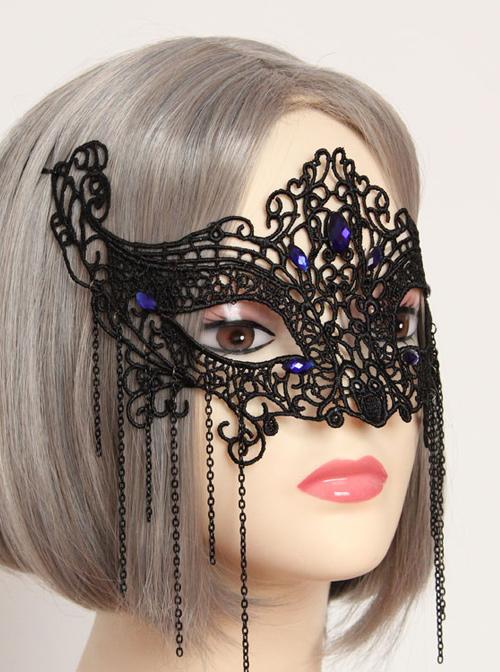 Halloween Half Face Masquerade Black Lace Mask