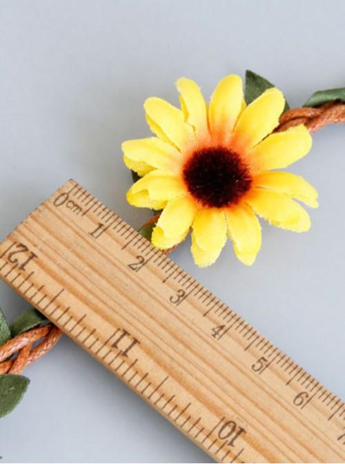 Emulation Rattan Sunflower Lolita Anklet