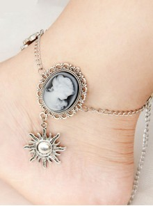 Portrait And Little Sun Pendant Gothic Lolita Anklet