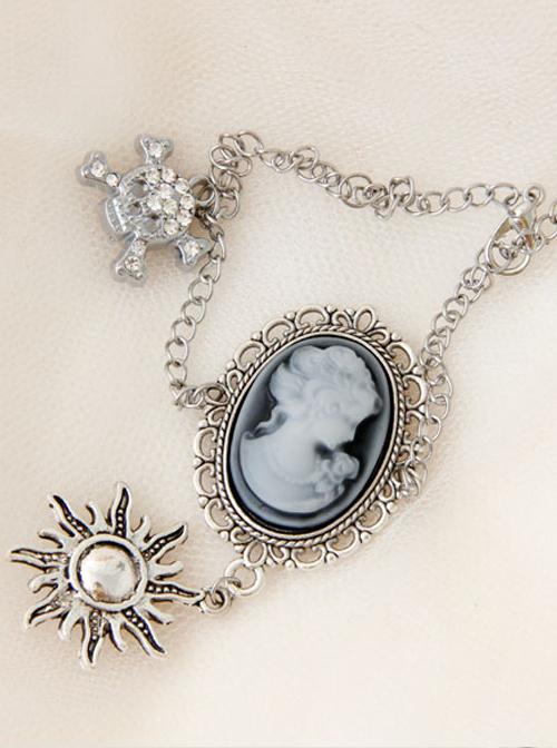 Portrait And Little Sun Pendant Gothic Lolita Anklet