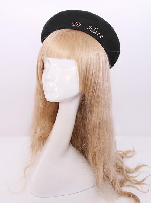 Retro College Style Classic Lolita Polychromatic Beret