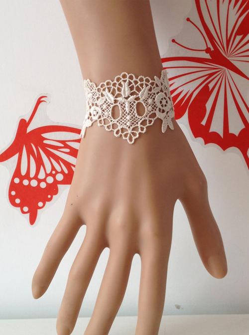 White Lace Wedding Classic Lolita Bracelet