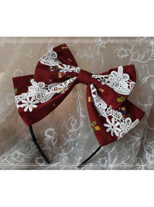 Magic Tea Party Owl And Rabbit Series Owl Bowknot Lolita Head Hoop