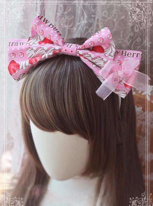 Magic Tea Party Strawberry Chocolate Series Strawberry Printing Head Hoop
