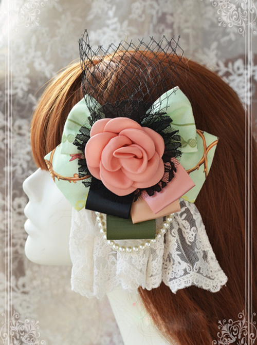 Magic Tea Party Spring of Europa Printing Flower Lolita Hair Pin