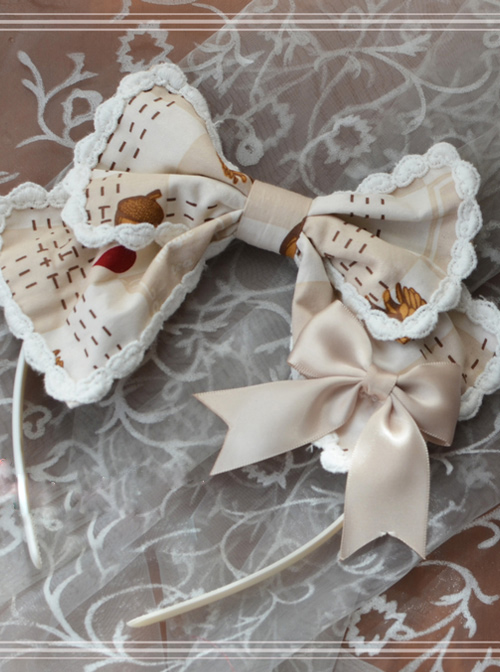 Magic Tea Party The Squirrel Couple's Afternoon Series Lolita Head Hoop