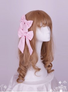 Soft Stripe Chiffon Big Bowknot Sweet Lolita Hair Pin