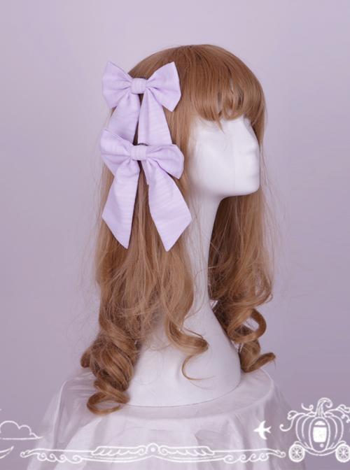 Soft Stripe Chiffon Big Bowknot Sweet Lolita Hair Pin