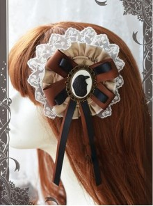 Magic Tea Party Raven And Writing-desk Series Classic Lolita Hair Pin