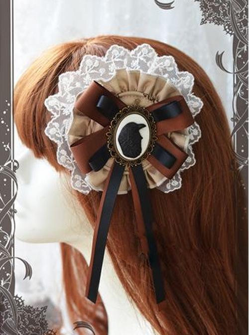 Magic Tea Party Raven And Writing-desk Series Classic Lolita Hair Pin
