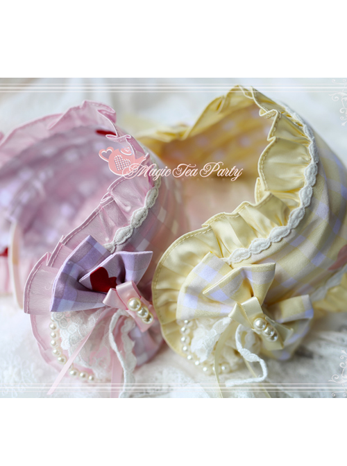 Magic Tea Party Flowers And Birds Poetry Series Printing Bowknot Sweet Lolita Head Band
