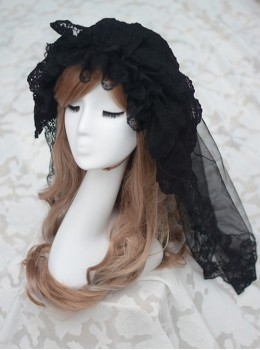 Romantic Tulle Lace Lolita Long Veil